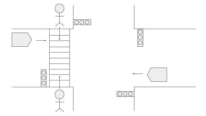 信号機のある横断歩道での事故