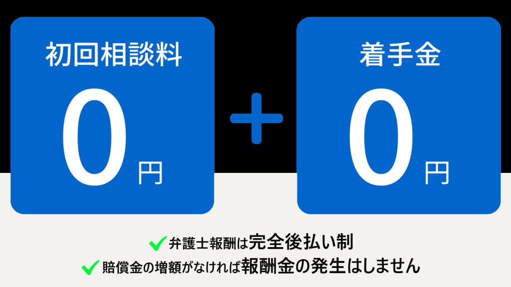 弁護士費用(相談料、着手金0円)